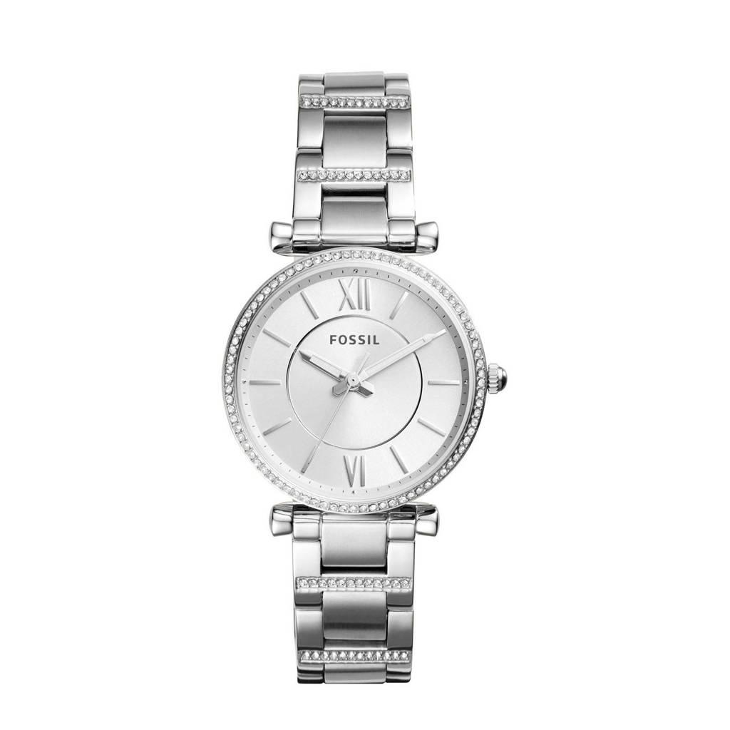 Fossil Carlie Dames Horloge ES4341, Zilver