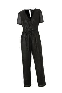 Pieces gestreepte jumpsuit met glitter detail (dames)