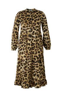 Pieces jurk met luipaardprint (dames)