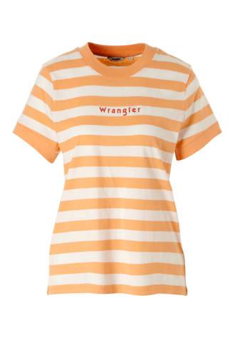 T-shirt met strepen en logo