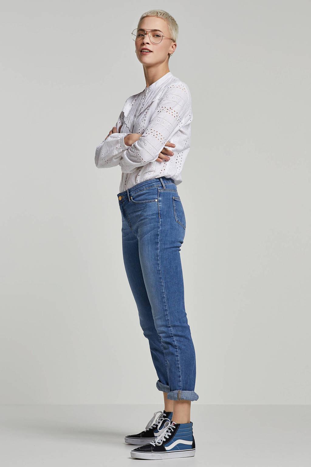 Wrangler straight jeans, Blauw