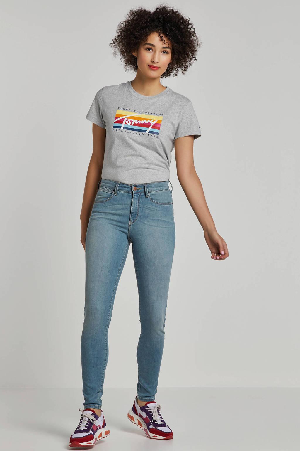 Wrangler skinny jeans high waist, Lichtblauw