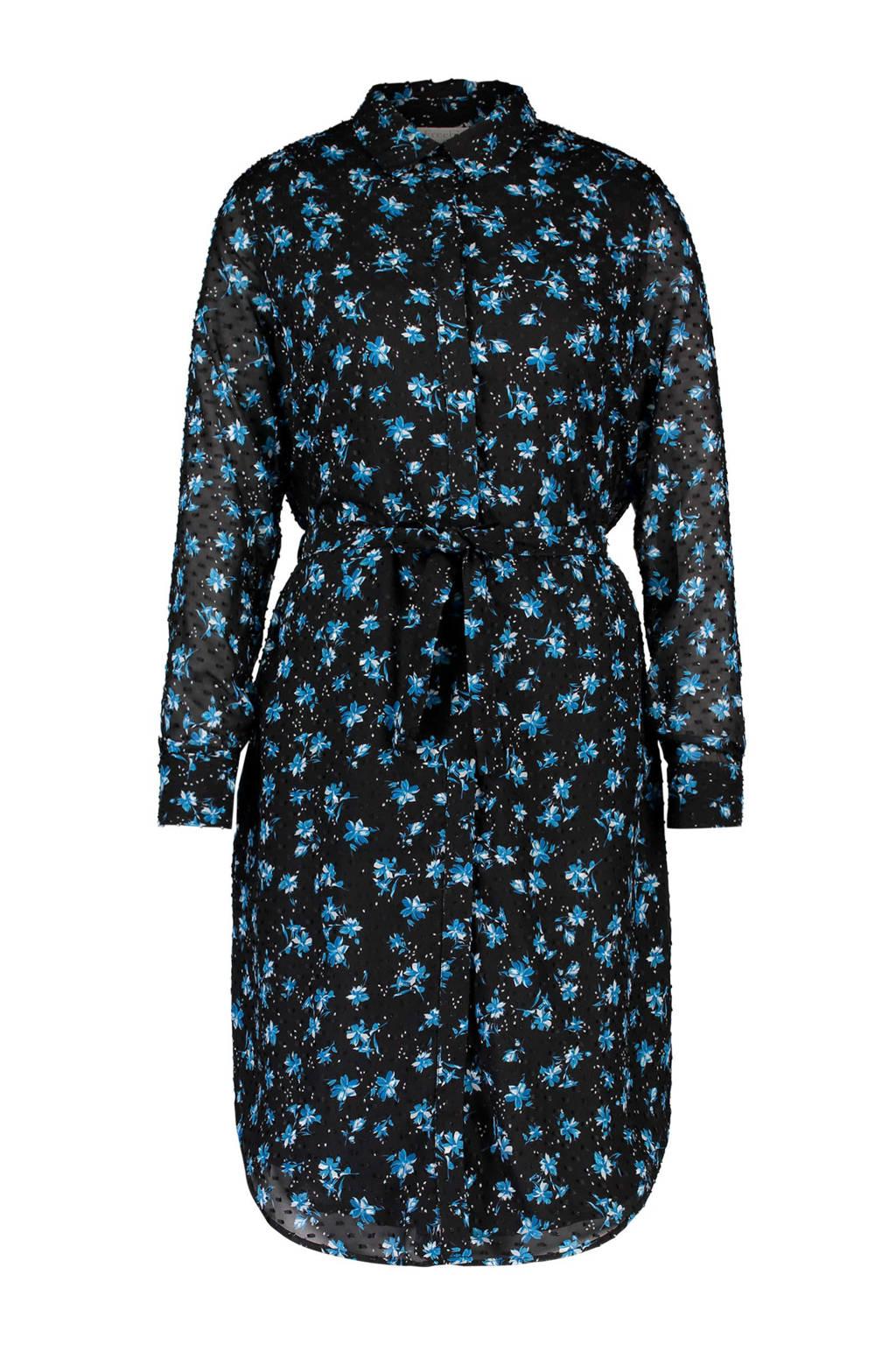 Bloemen Met Blauw Met Blauw Freebird Blousejurk Bloemen Blousejurk Freebird SHwqv6