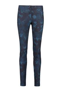 Expresso skinny-fit broek met dessin blauw
