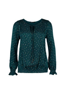 Expresso blouse Nila groen met all over print (dames)