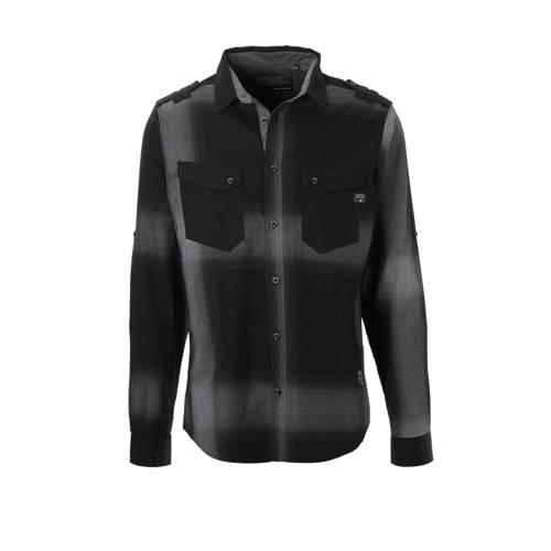 Angelo Litrico geruit overhemd zwart