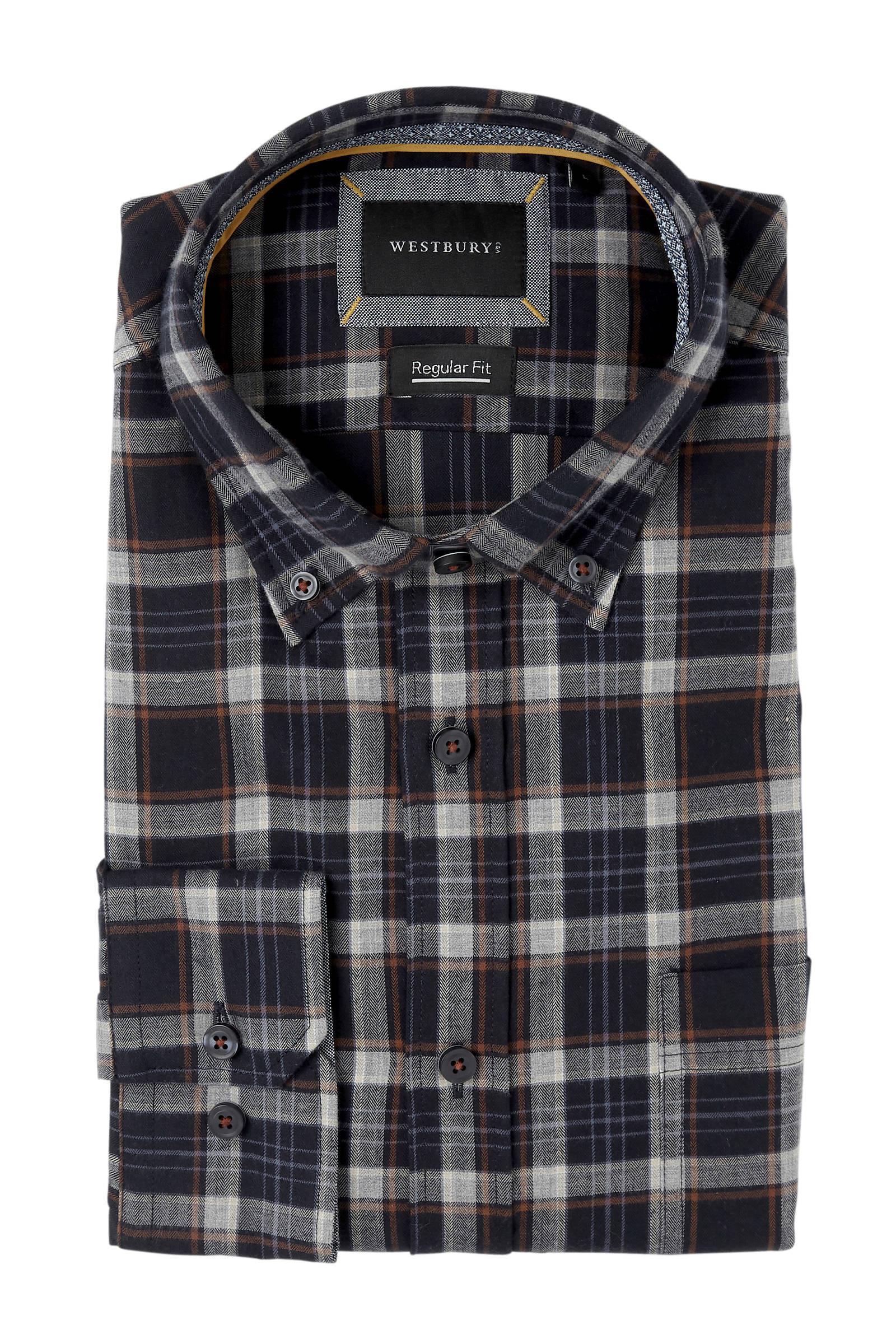 C Westbury Fit Overhemd Slim Geruit BlauwWehkamp amp;a zpUqSMGVL