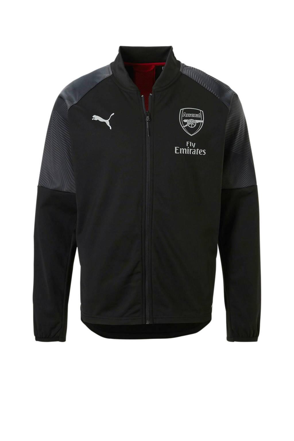 Puma Senior Arsenal FC voetbaljack, Zwart/grijs