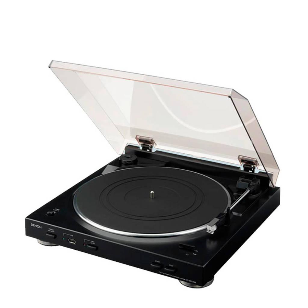 Denon DP200 platenspeler zwart, Zwart