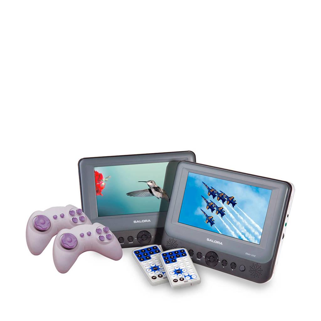 Salora DVP7748 DUO portable DVD speler, Zwart