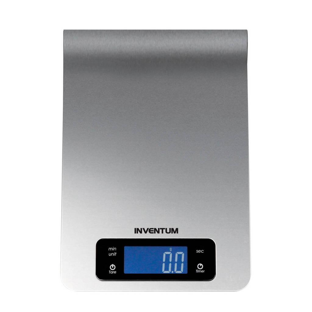 Inventum WS330 keukenweegschaal, Zilver