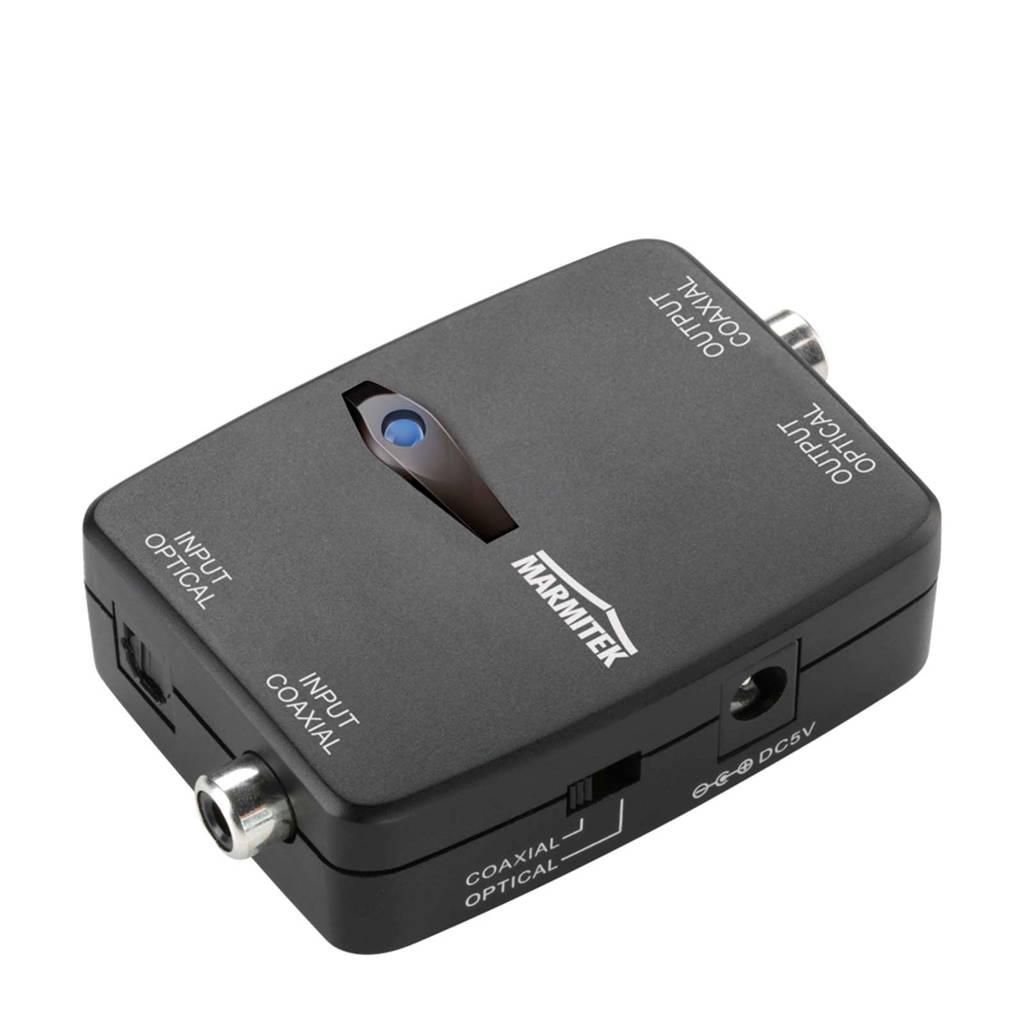 Marmitek adapter optisch-coax Connect TC22, Zwart