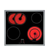 Siemens ET645HN17E inbouw keramische kookplaat, Edelstaal/ zwart