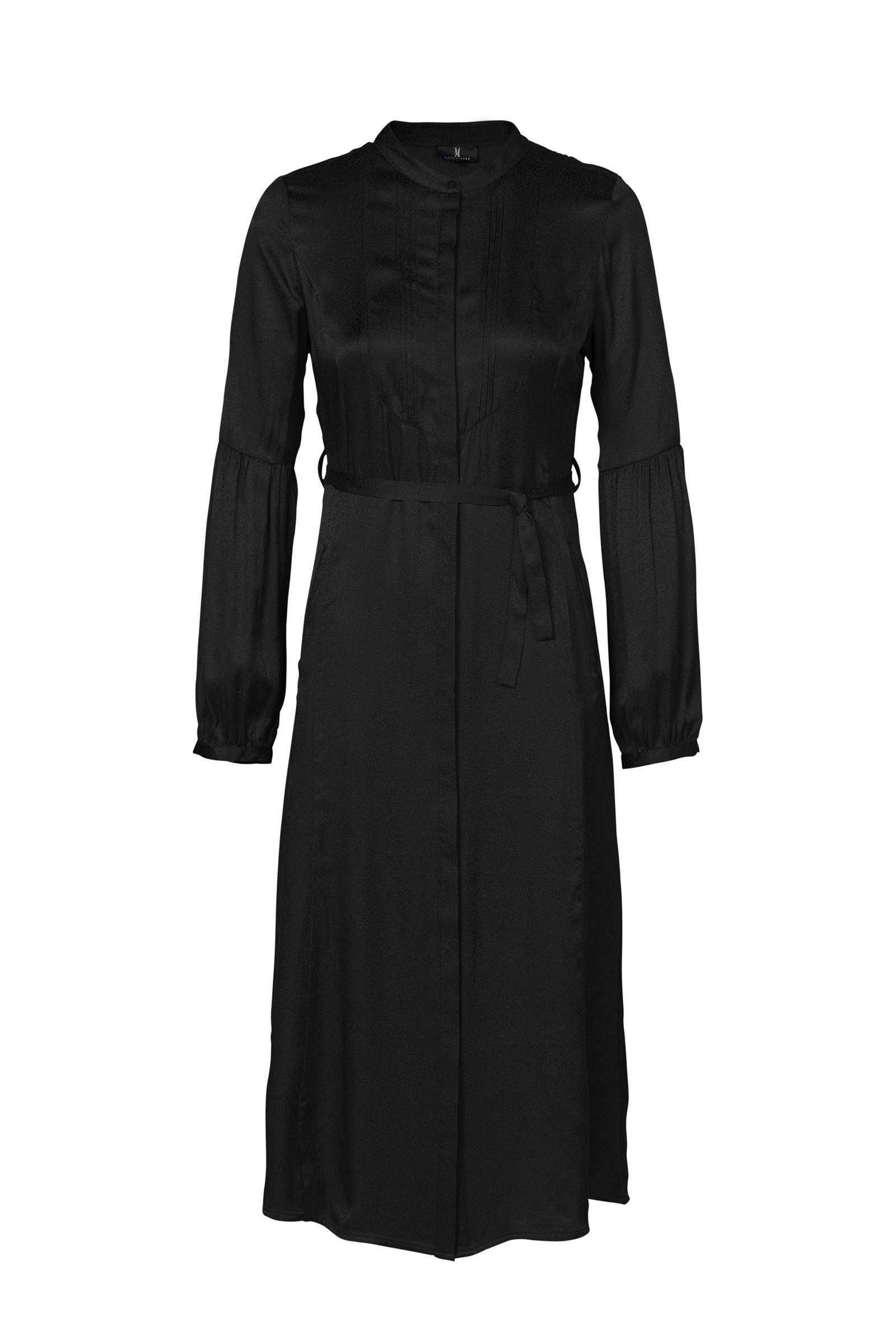zwarte lange blouse jurk