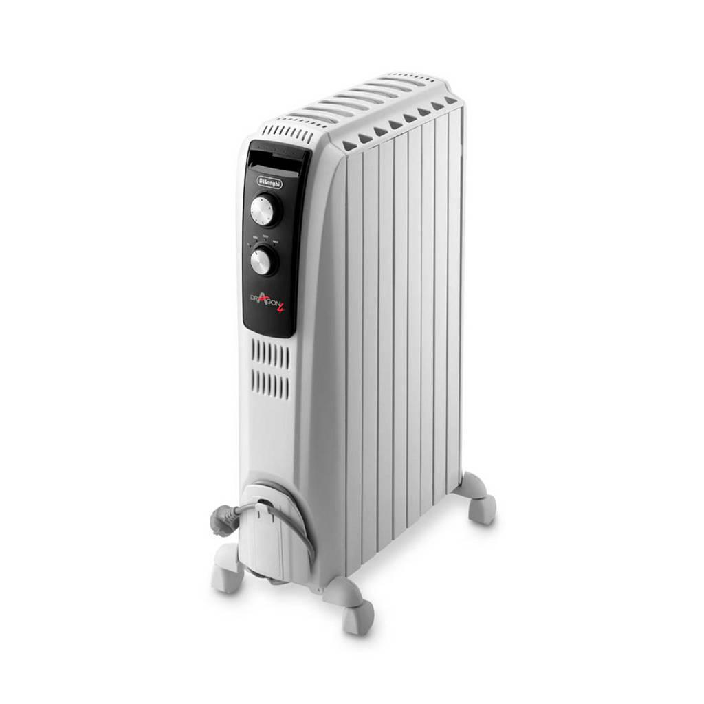 De'Longhi TRD40820 elektrische radiator, Zwart, Roestvrijstaal