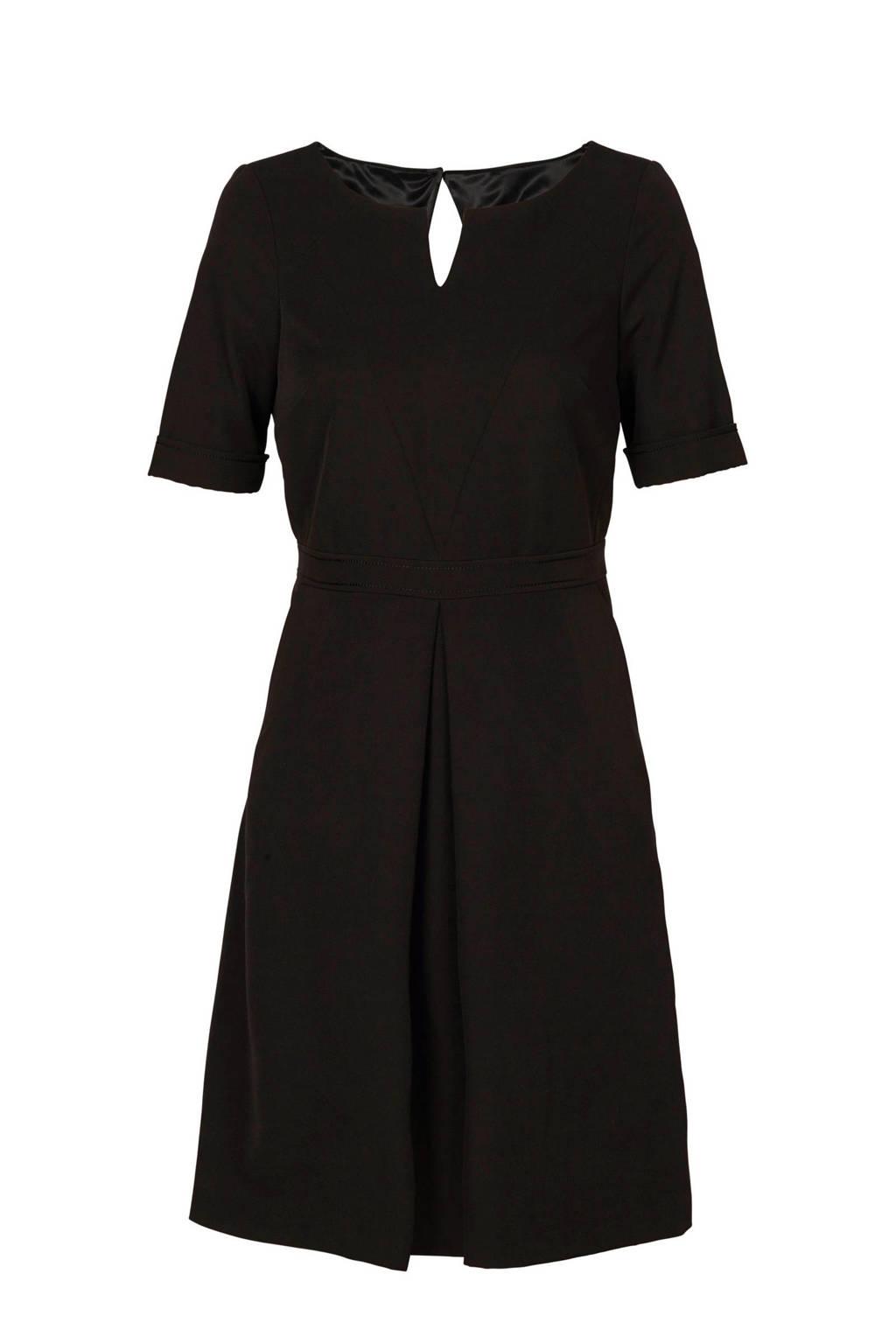 Mart Visser jurk met plooi detail zwart, Zwart