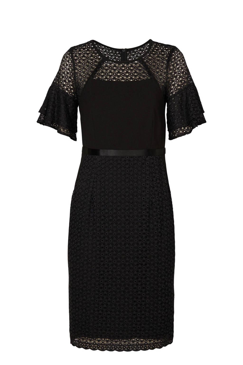 Mart Visser jurk met kant zwart, Zwart