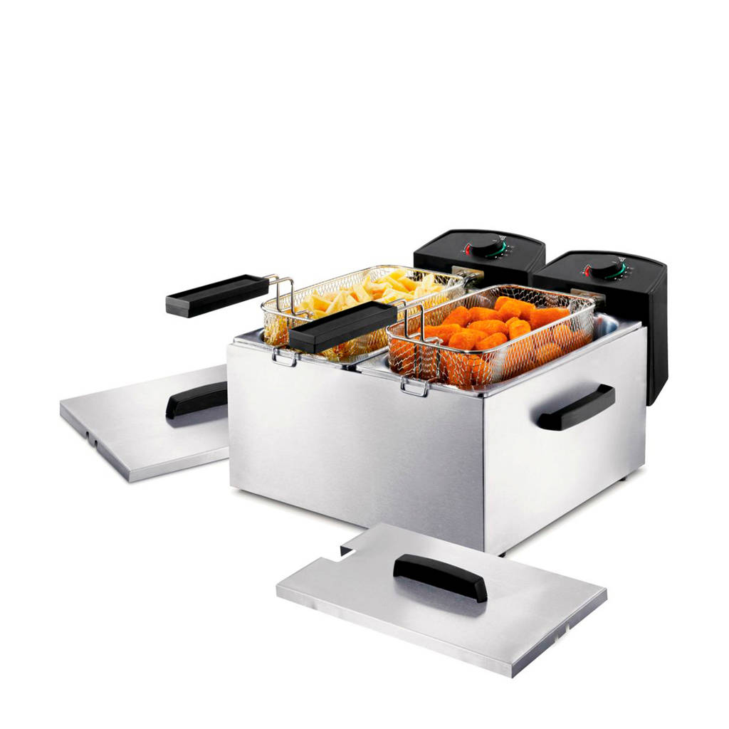 Princess Double Fryer - 183123, RVS
