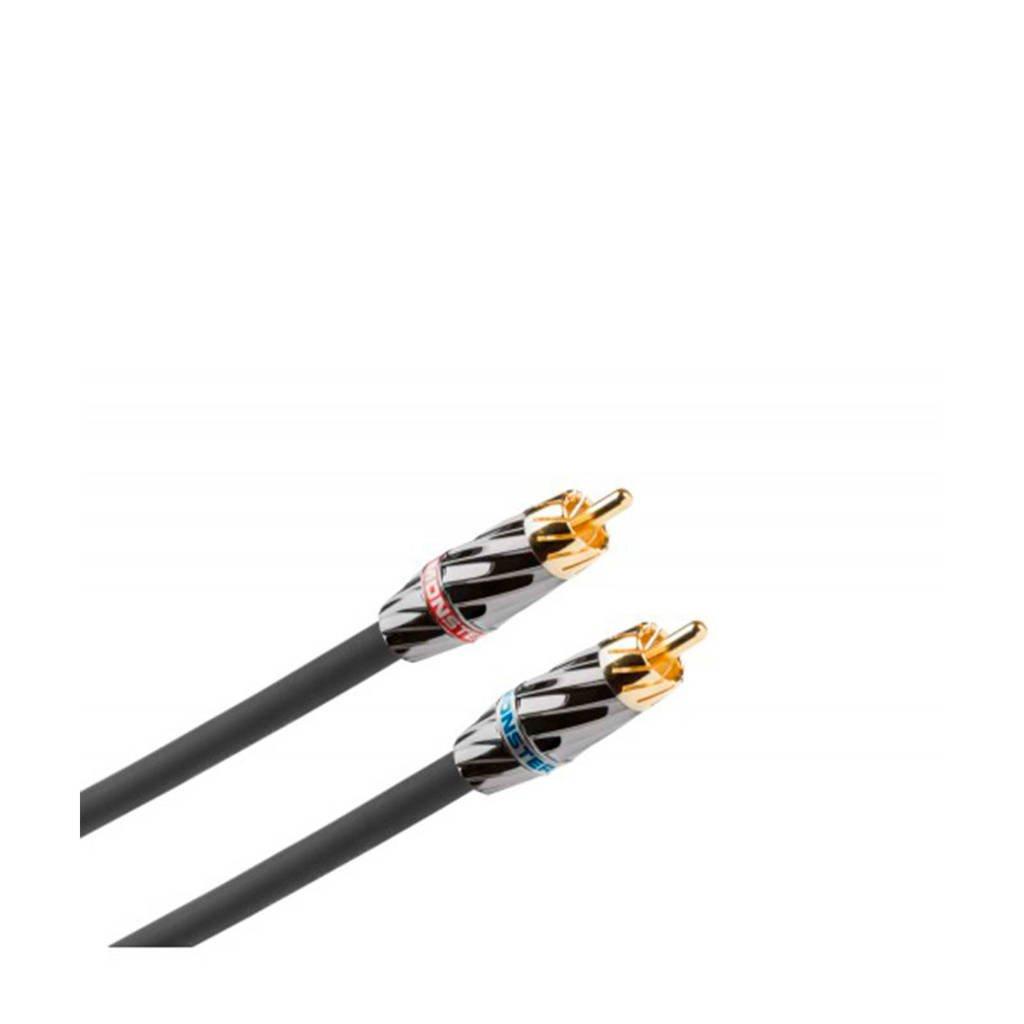 Monster tulp/RCA kabel, Zwart