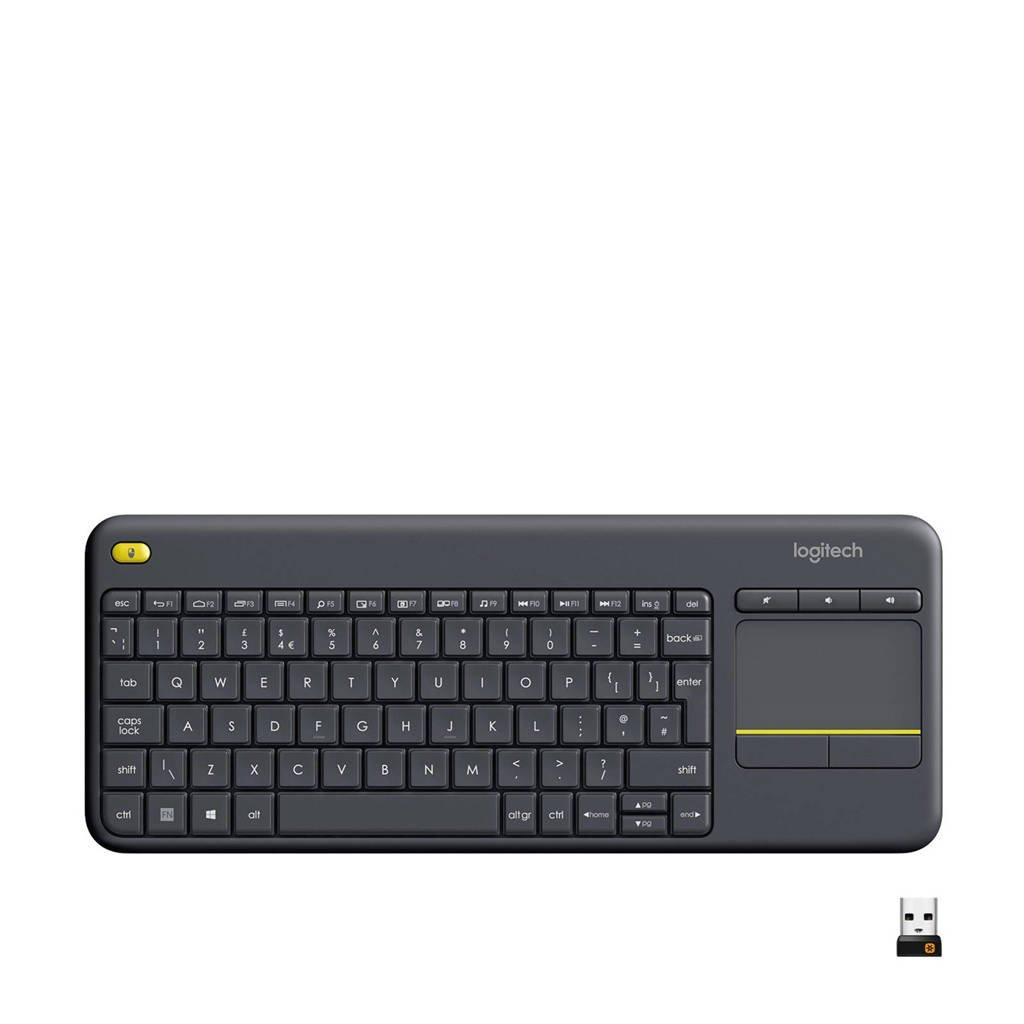 Logitech K400 Plus Smart TV draadloos toetsenbord, Zwart