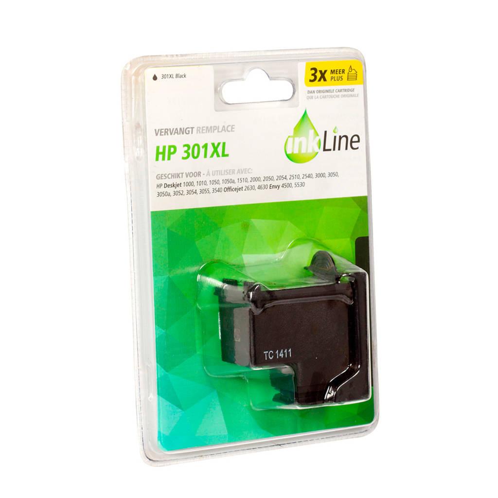 Inkline INH301BK inktcartridge voordeelpak zwart, Zwart