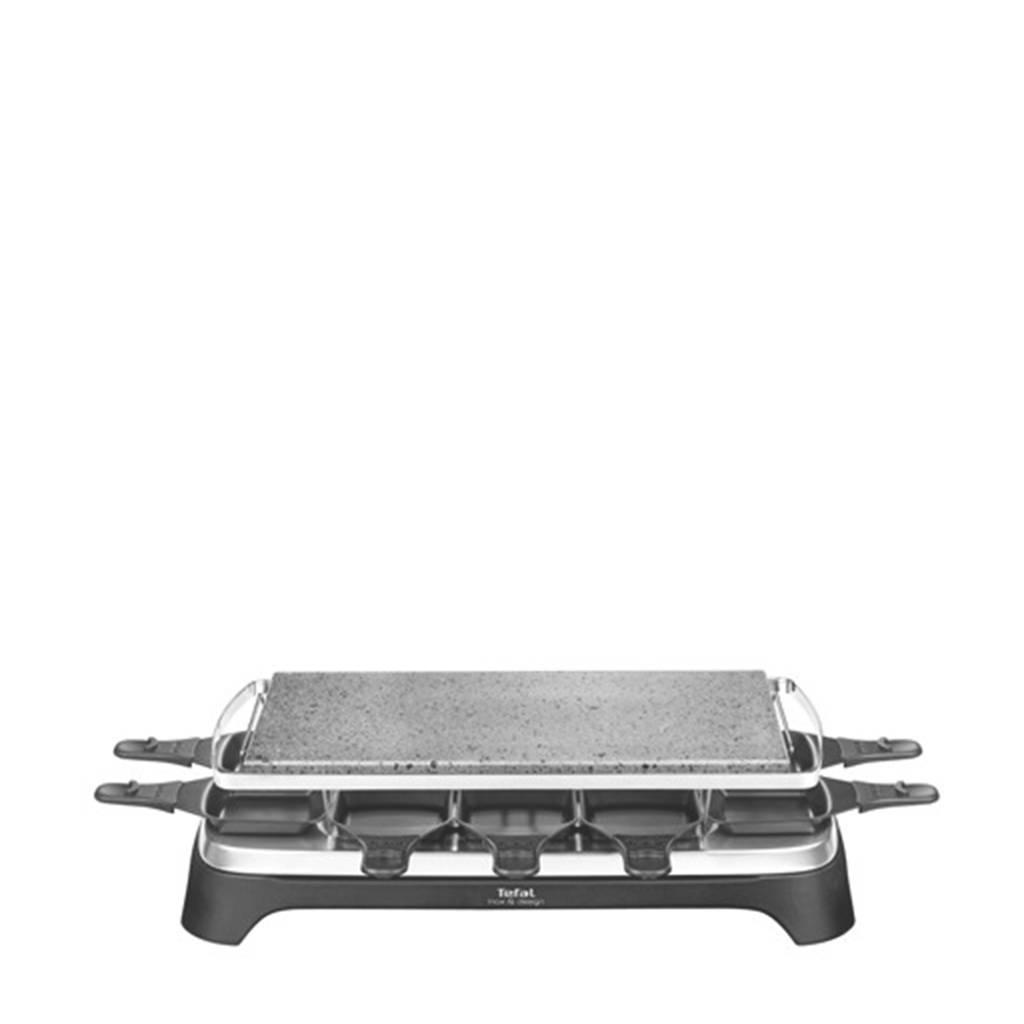 Tefal PR4578 steengrill/raclette, Zwart