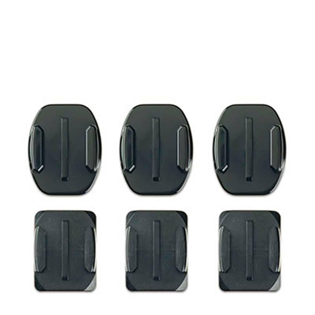 GoPro curved + flat adhesive mounts bevestiging, Zwart
