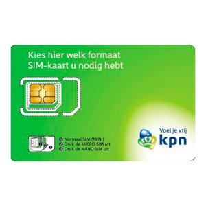 prepaid simkaart (3-in-1)