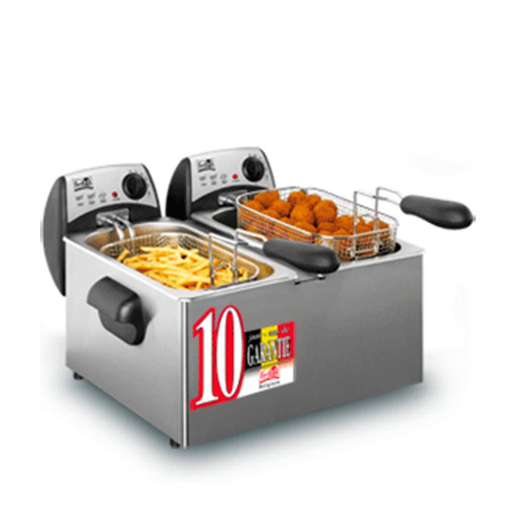Fritel FR1355 DUO friteuse, Metallic