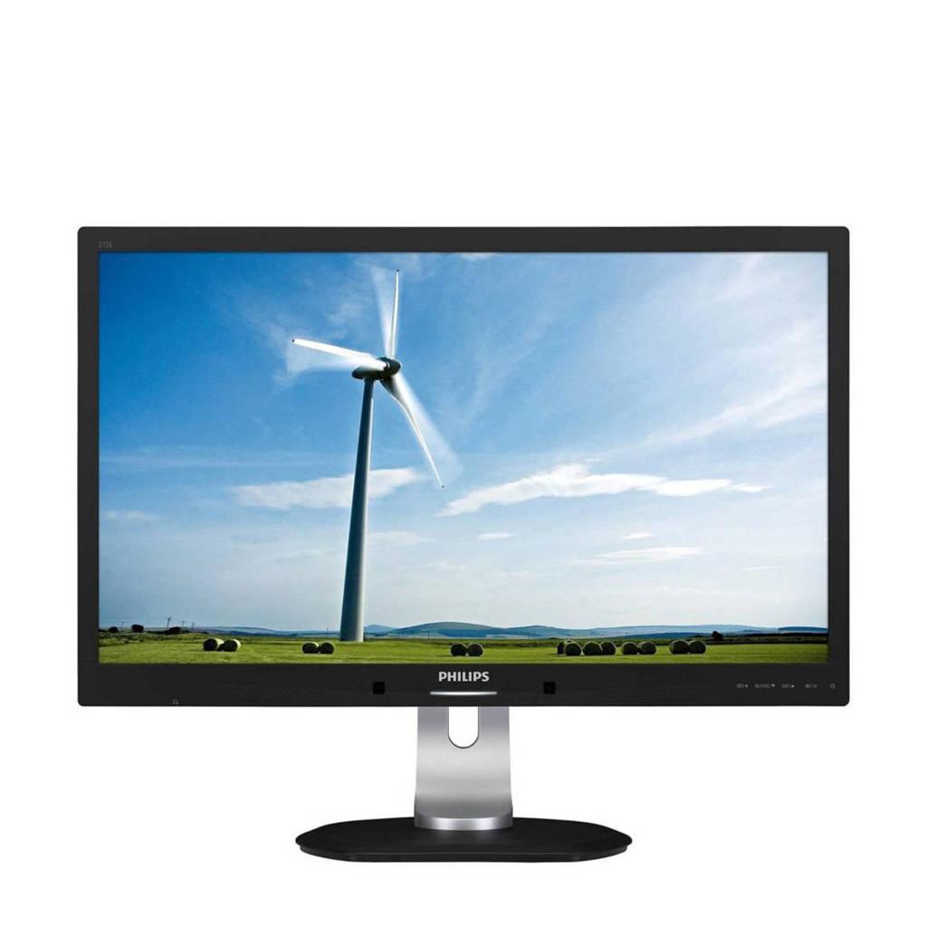 Philips 272SLPJCB 27 inch monitor, Zwart, zilver
