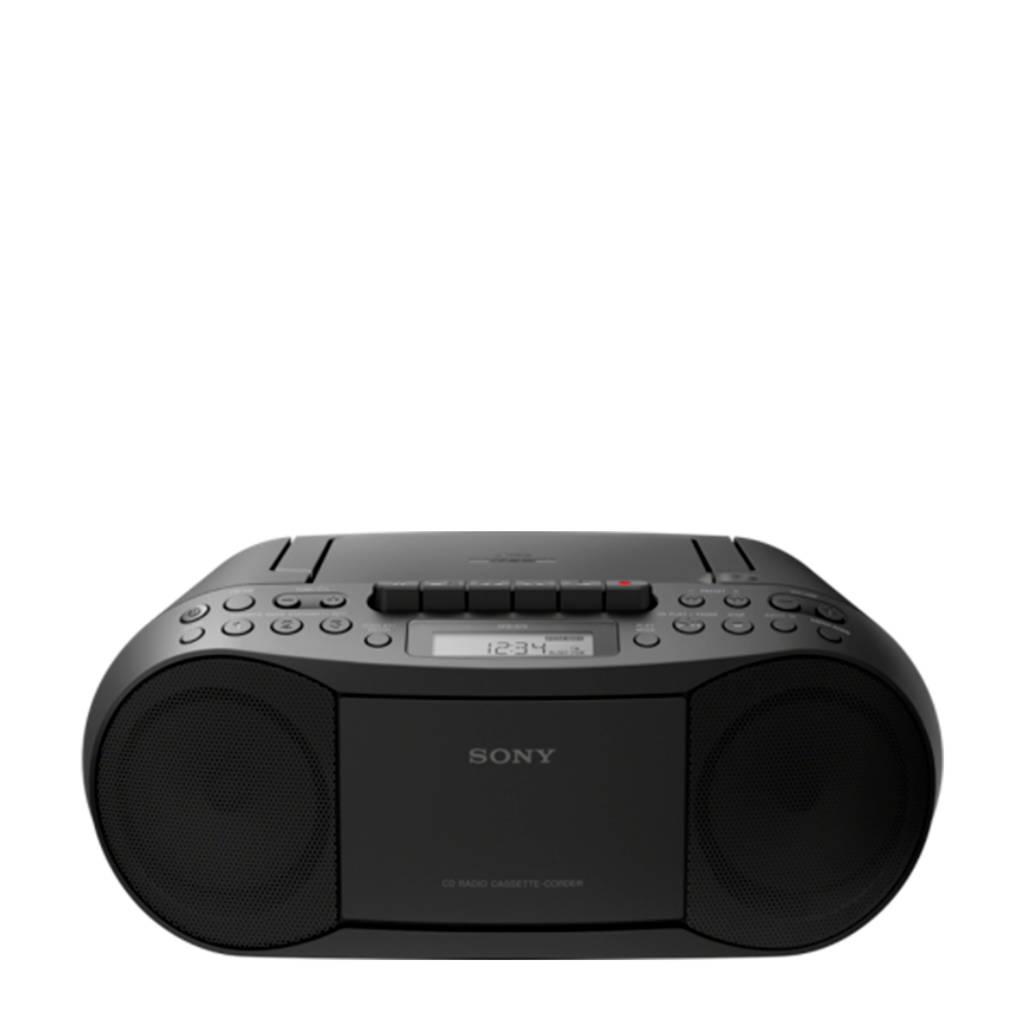 Sony CFDS70B boombox met radio zwart, Zwart