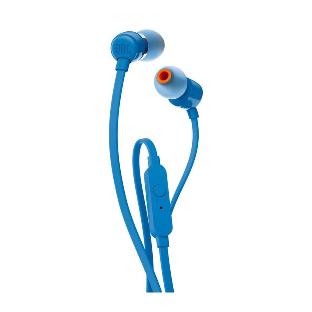 JBL T110 in ear koptelefoon blauw, Blauw