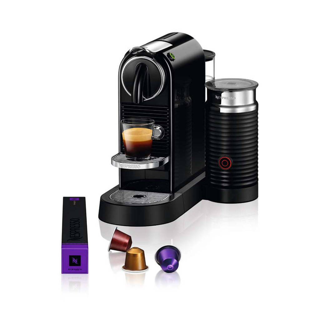 Magimix CitiZ & Milk Limousine Black M195 Nespresso machine, Zwart