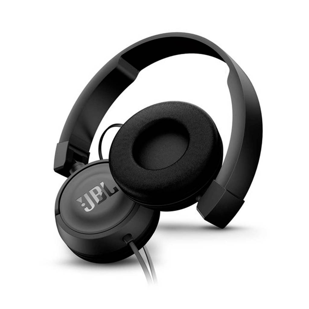JBL T450 on-ear koptelefoon zwart, Zwart