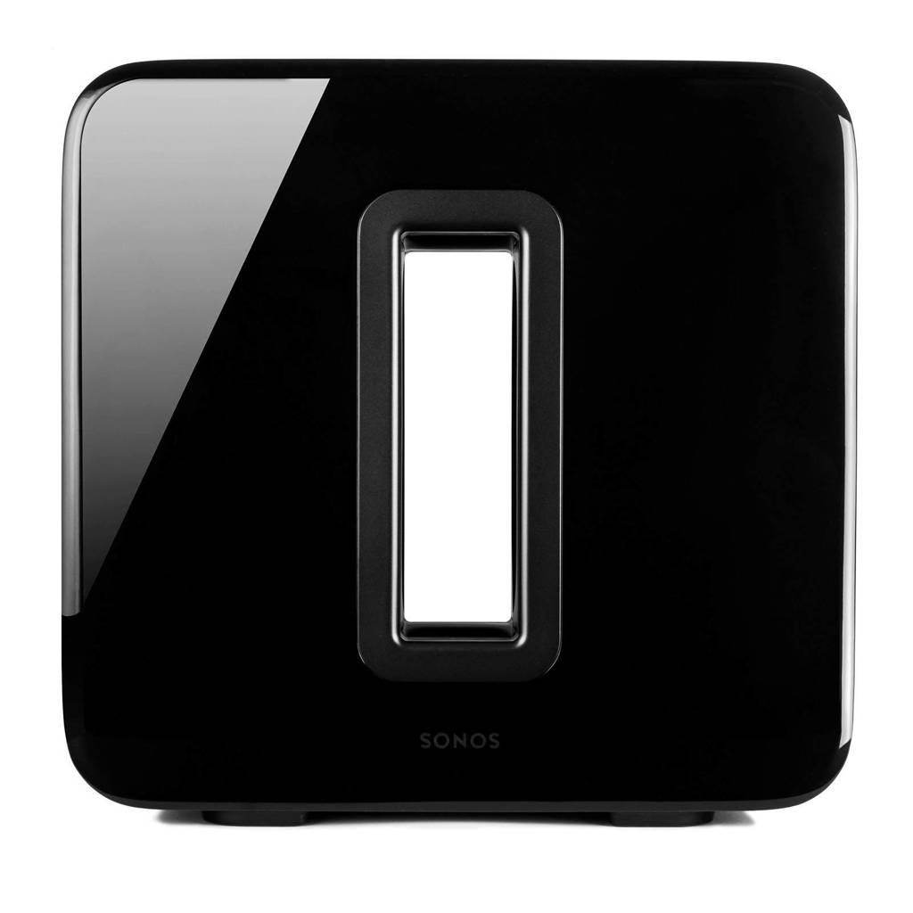 Sonos SUB draadloos muzieksysteem zwart, Zwart