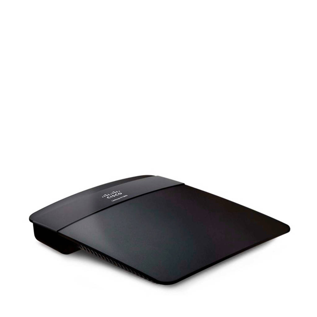 Linksys E1200-EW wireless router, Zwart