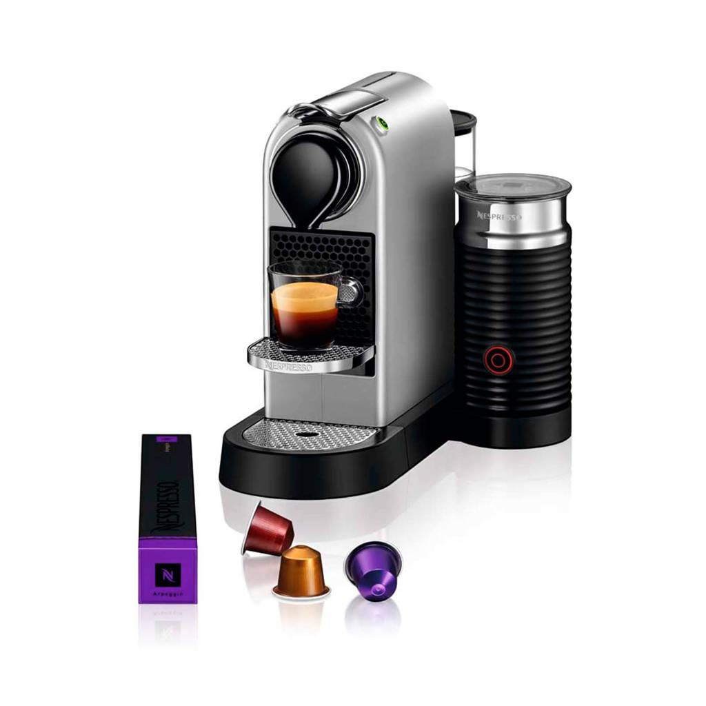 Krups CitiZ & Milk Silver XN760B Nespresso machine, Zilver