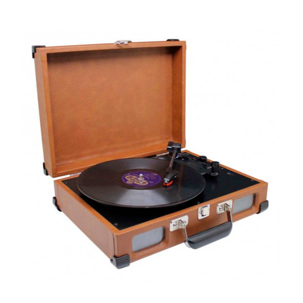 Soundmaster PL580BR BRUIN Platenspeler, Bruin
