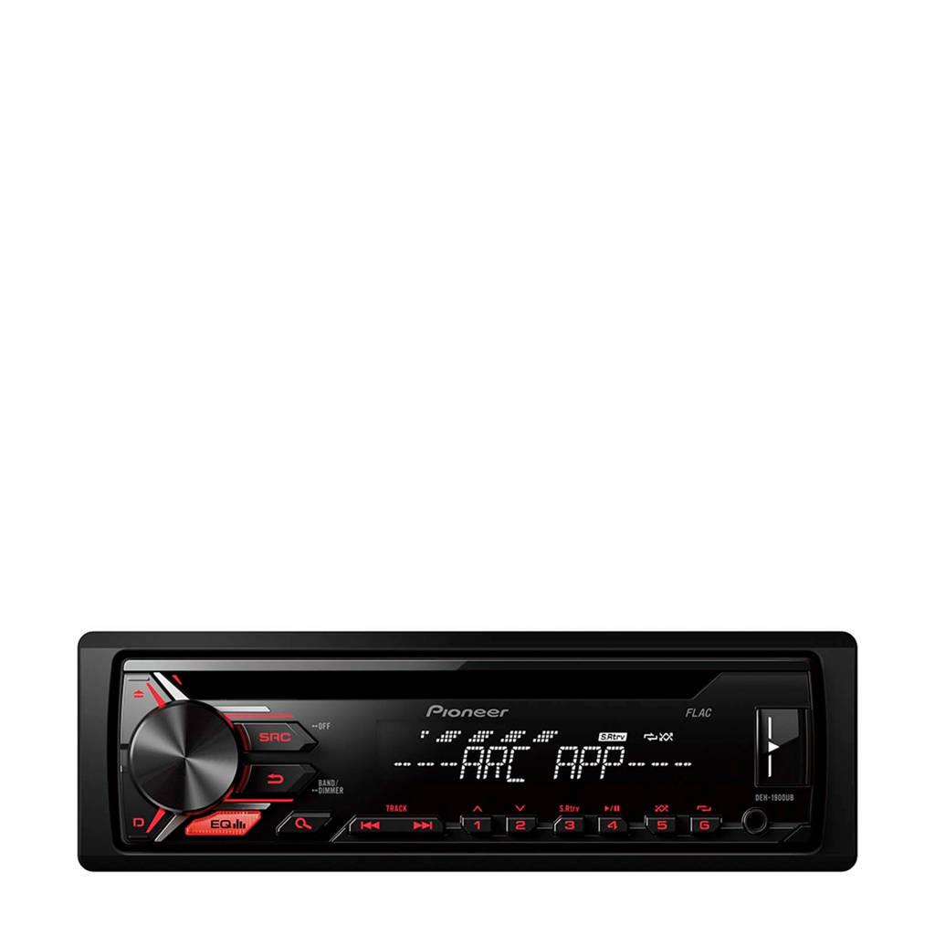 Pioneer DEH 1900UB 1DIN autoradio zwart, Zwart