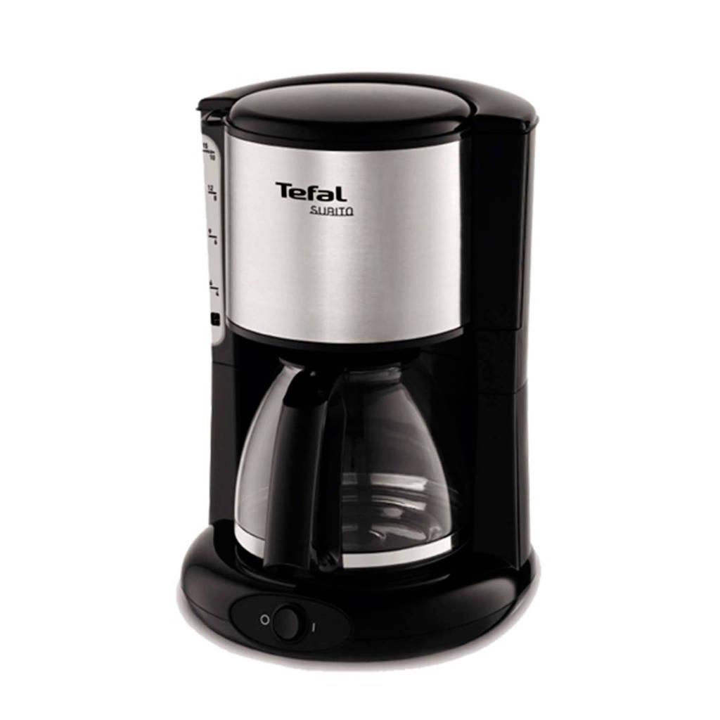 Tefal CM3608 Subito koffiezetapparaat, Zwart, Roestvrijstaal