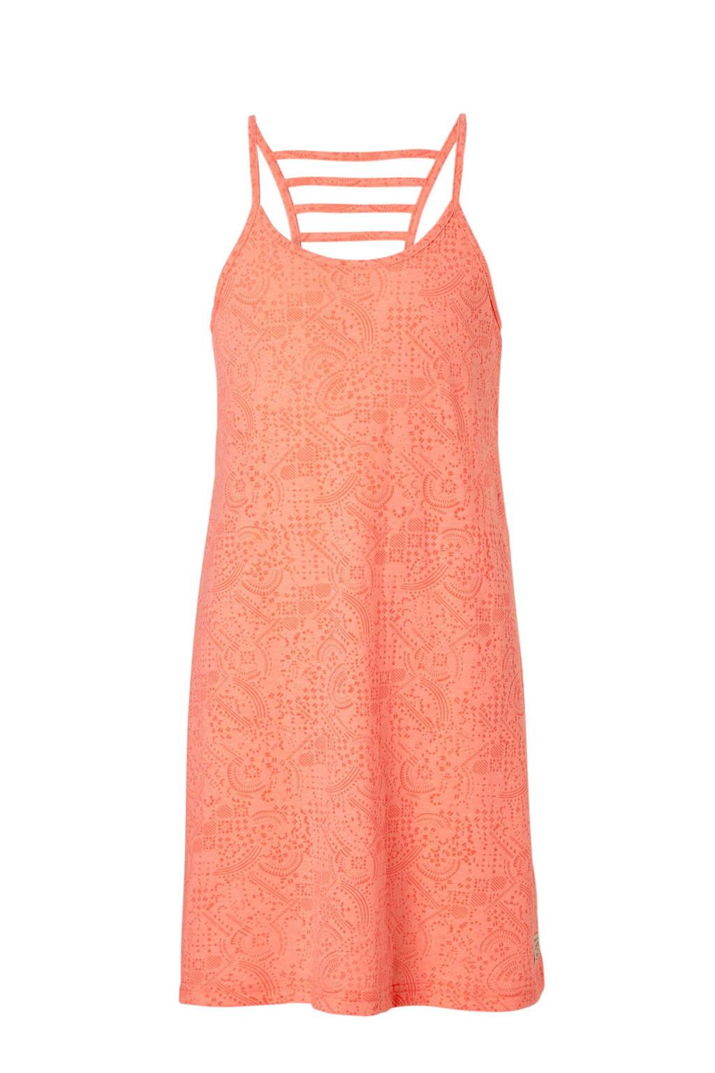 Protest jurk Copper met alloverprint zalm, Zalm