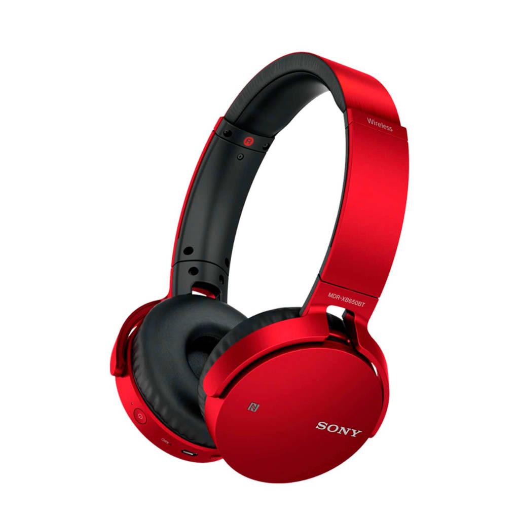 Sony  MDR-XB650BT on-ear bluetooth koptelefoon rood, Rood