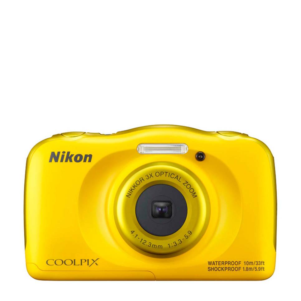 Nikon Coolpix W100 geel compact camera