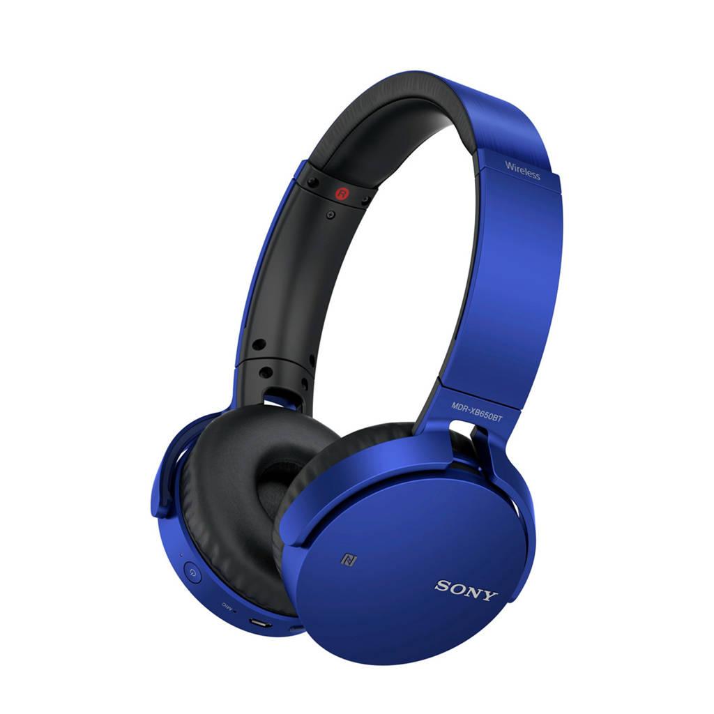 Sony MDR-XB650BT on-ear bluetooth koptelefoon blauw