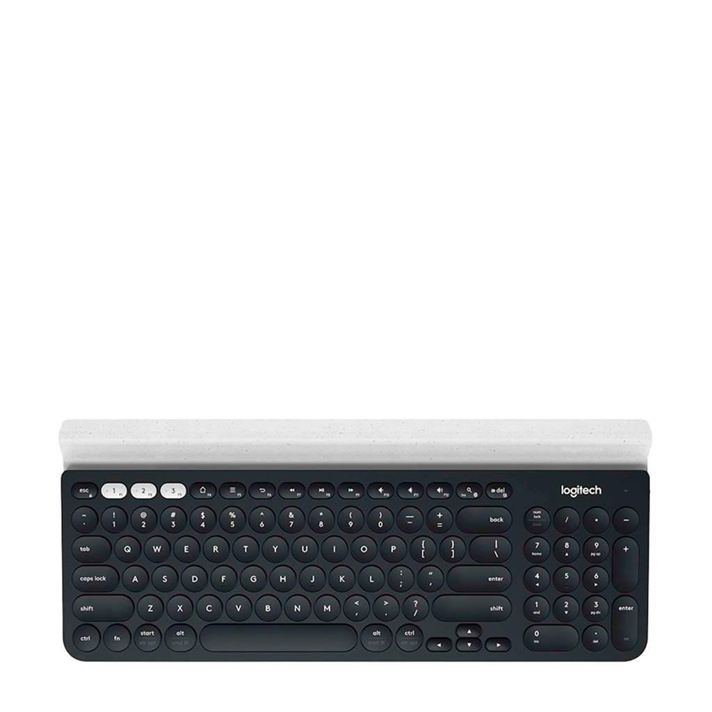 Logitech K780 MULTI-DEVICE KEYB multi device keyboard, Zwart/wit