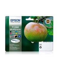 Epson PACK POMME 4CL T1295 multipack inkcartridges (zwart+kleur), Zwart, Geel, Cyaan en Magenta