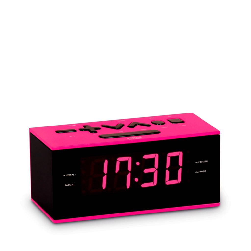 BigBen RR60RSN wekkerradio roze, Zwart, roze