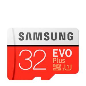 MicroSDHC EVO+ Class 10 32GB geheugenkaart + adapter