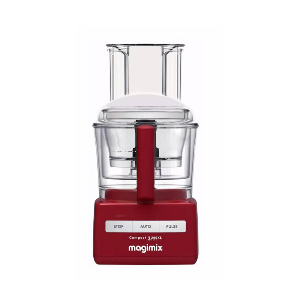 Magimix Compact 3200XL foodprocessor, Rood