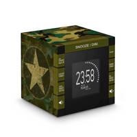 BigBen RR70PARMY radio klok, Zwart, Groen